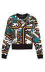 Mash Up Floral Print Silk Twill Sweatshirt by PETER SOM for Preorder on Moda Operandi