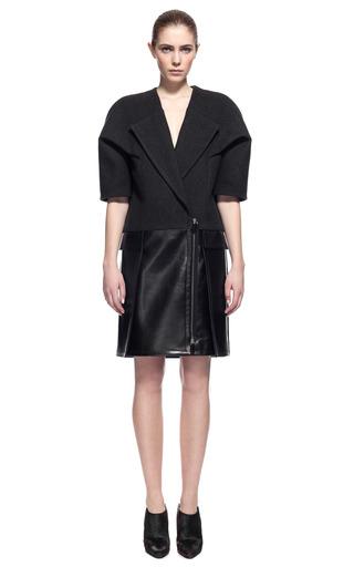 Medium alexander wang dark grey folded sleeve double breasted dress coat