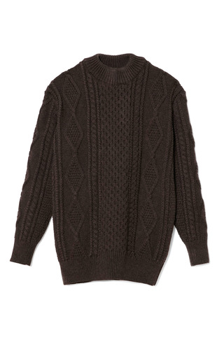 Medium marc jacobs brown cocoa aran stitch oversized sweater
