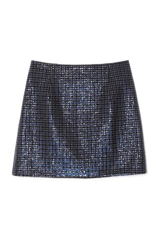 Medium marc jacobs dark grey grey mini plaid sequins highwaisted mini skirt