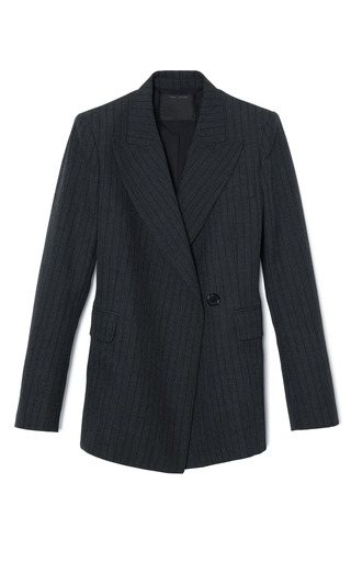 Medium marc jacobs black black pinstripe menswear blazer