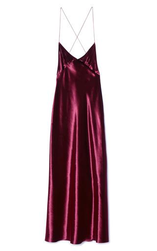 Medium marc jacobs burgundy burgundy panne velvet knee length dress