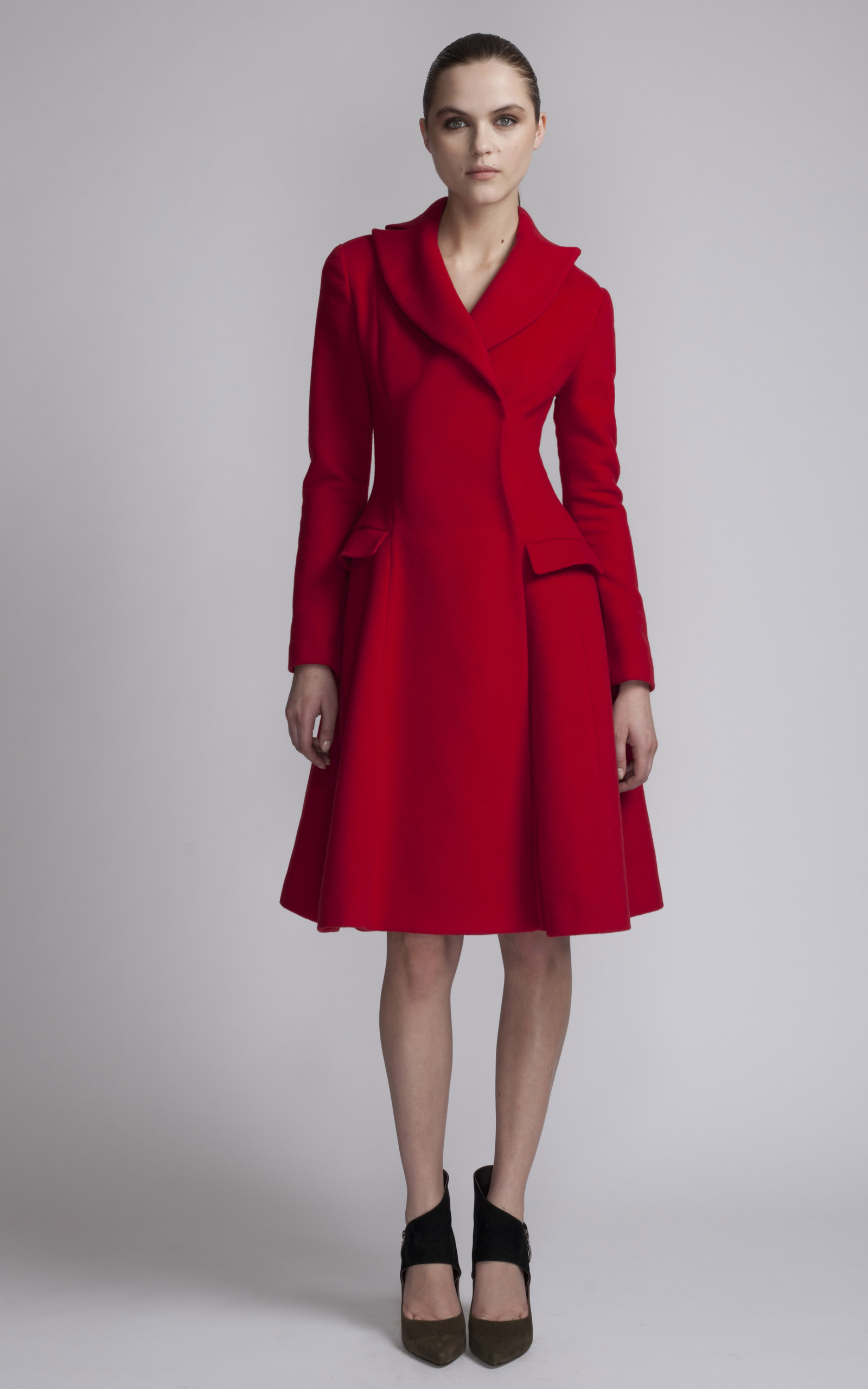 Red Dress Coat by Issa | Moda Operandi