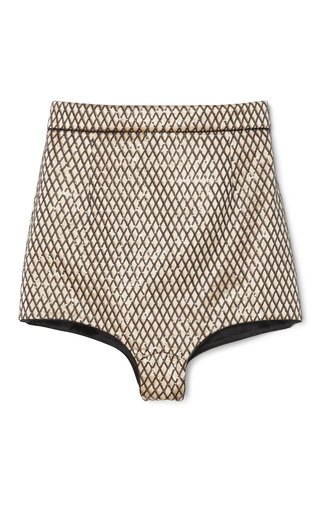 Medium marc jacobs yellow sand fishnet embroidery hot pants