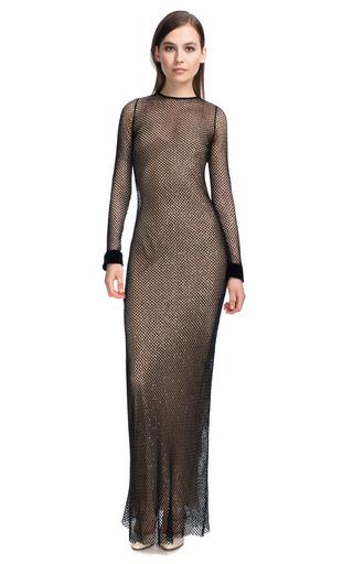 Medium marc jacobs black black fishnet sequin gown