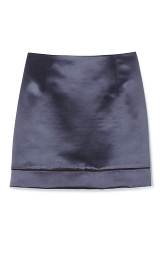 Medium marc jacobs dark grey grey plush satin mini skirt