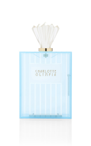 Blue Scent Clutch by CHARLOTTE OLYMPIA Now Available on Moda Operandi