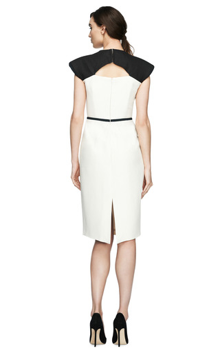 Cunard Cutout Yoke Dress by EDELINE LEE Now Available on Moda Operandi