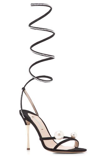 Medium nicholas kirkwood white pearl trim ankle strap sandal