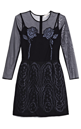 Medium opening ceremony black magic moire dress