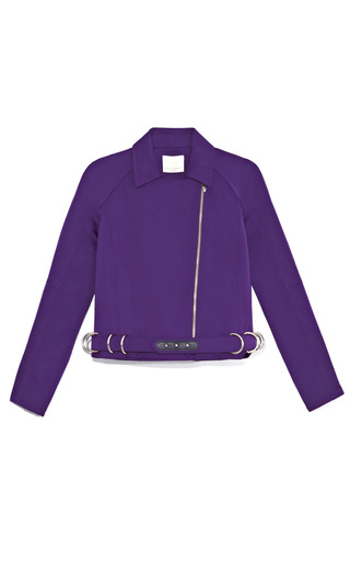 Medium opening ceremony purple carver satin moto jacket