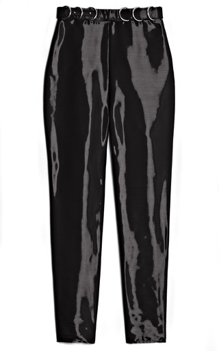 Medium opening ceremony black felix oil slick pant