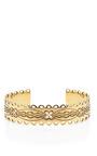Calamity Jane Gold Plated Engraved Cuff by AURéLIE BIDERMANN Now Available on Moda Operandi