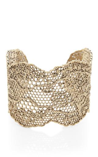 Medium aurelie bidermann gold yellow gold laser cut lace cuff