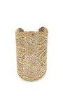 Yellow Gold Laser Cut Lace Cuff by AURéLIE BIDERMANN Now Available on Moda Operandi
