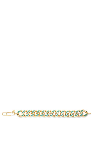 18 K Gold Link & Turquoise Lacquered Bracelet by AURéLIE BIDERMANN Now Available on Moda Operandi