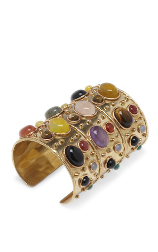 Cabochon Stone Manchette Cuff by SYLVIA TOLEDANO Now Available on Moda Operandi