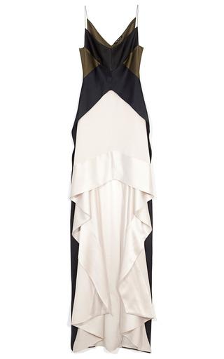 Medium narciso rodriguez black pearl and black heavy silk charmeuse dress