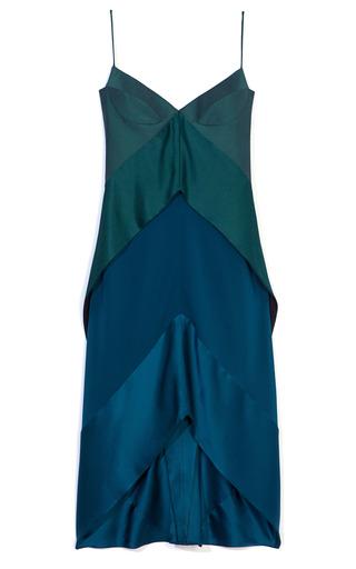 Medium narciso rodriguez green emerald wool sheen dress