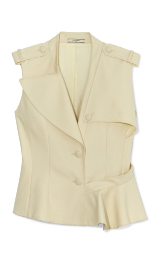 Medium bouchra jarrar ivory trench vest