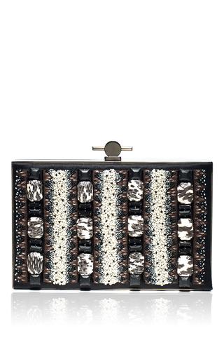 Medium jason wu black karlie box embroidered clutch 3