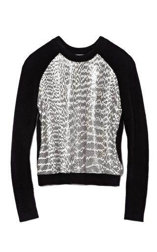 Medium jason wu black long sleeve combo raglan sweatshirt