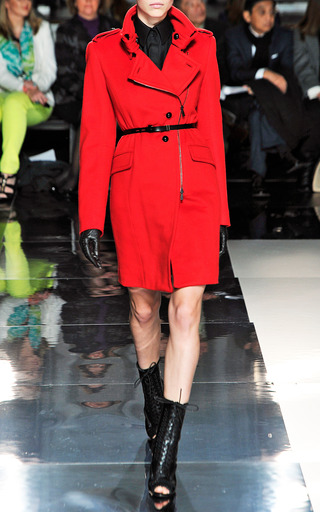 Funnel Neck Belted Coat With Belt by JASON WU for Preorder on Moda Operandi