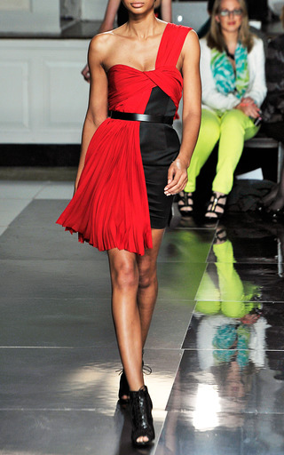 Combo One Shoulder Dress With Belt by JASON WU for Preorder on Moda Operandi
