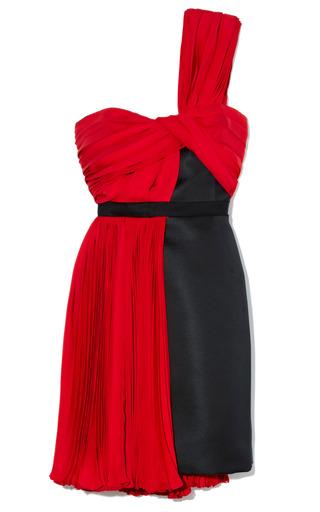 Medium jason wu black combo one shoulder dress with belt