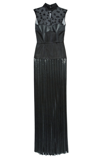 Medium jason wu black sleeveless combo bustier beaded gown