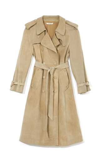 Medium rodarte nude nude suede trench coat