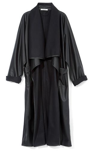 Medium rodarte black black pleather draped coat