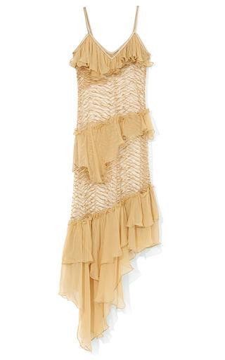 Medium rodarte nude ruffle embroidered dress