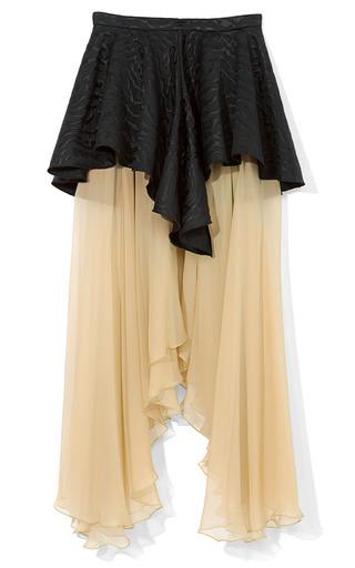 Medium rodarte black nude black chiffon skirt