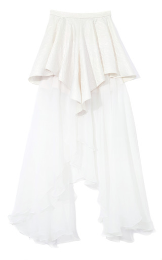 Medium rodarte white white chiffon skirt