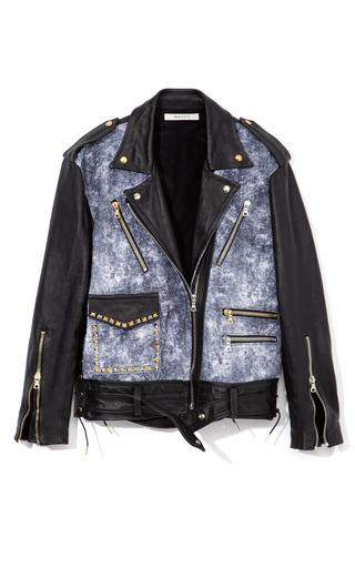 Medium rodarte blue printed acid wash multimedia jacket