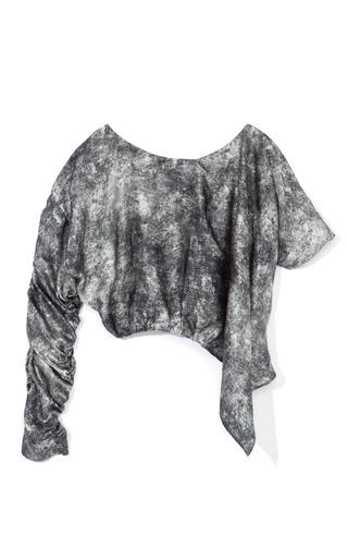 Medium rodarte multi printed black acid wash blouse