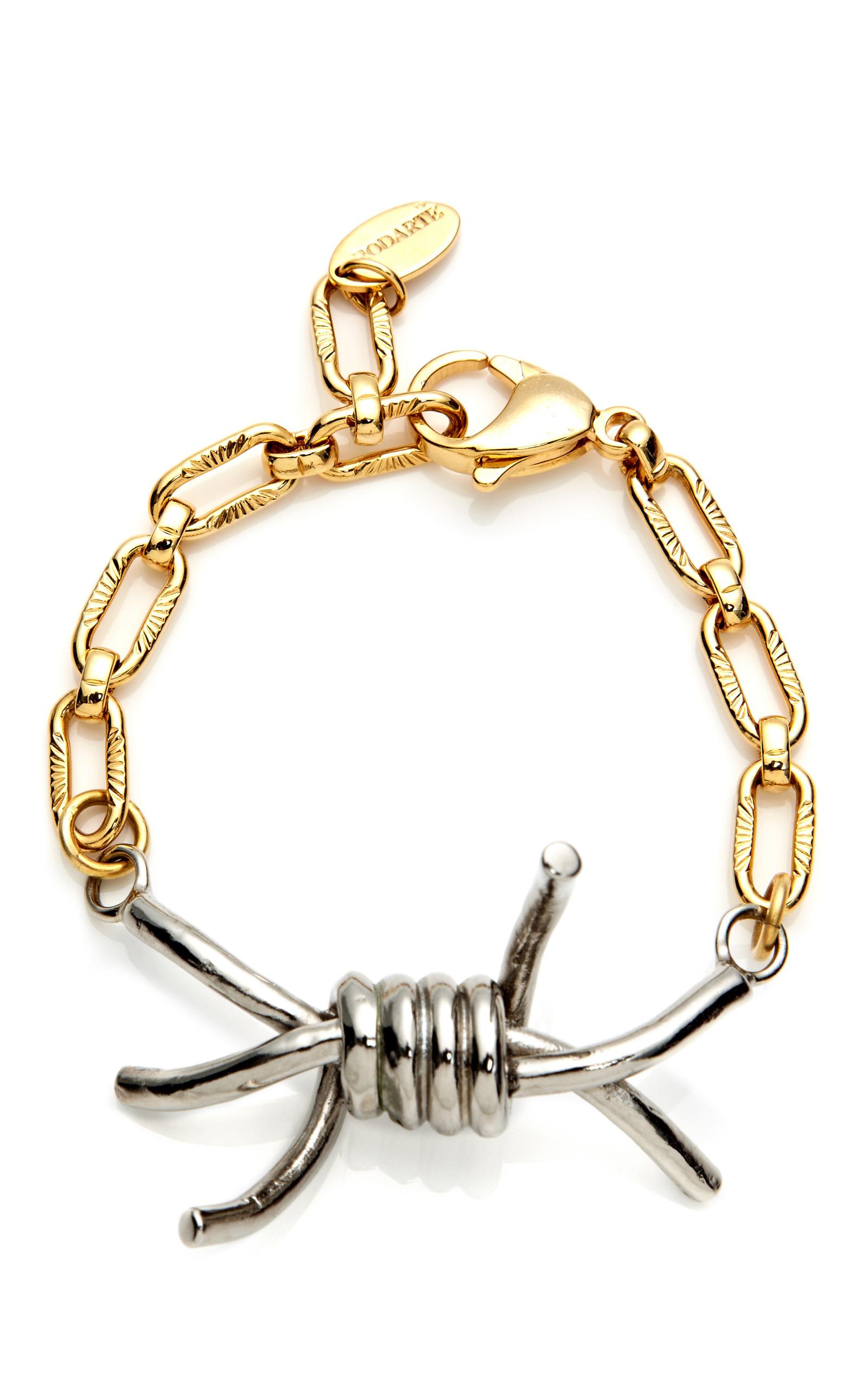 Silver & Gold Barbed Wire Bracelet by Rodarte | Moda Operandi