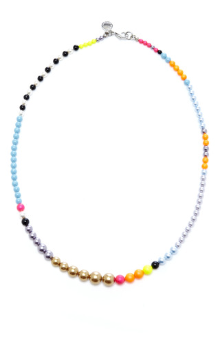 Cuckoo Pearl Necklace In Cooper Multi by TOM BINNS Now Available on Moda Operandi