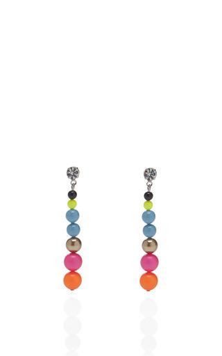 Cuckoo Pearls Multicolor Drop Earrings by TOM BINNS Now Available on Moda Operandi