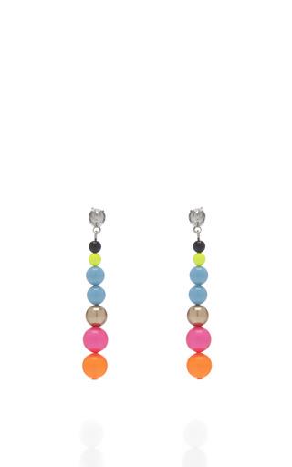 Medium tom binns multi cuckoo pearls multicolor drop earrings 2