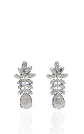 Gilded Pleasure Turquoise Painted Earrings by TOM BINNS Now Available on Moda Operandi