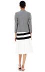 Silk Blend Striped Shrunken Blazer by THOM BROWNE Now Available on Moda Operandi