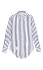 Classic Shirt In Thick Stripe Poplin by THOM BROWNE Now Available on Moda Operandi