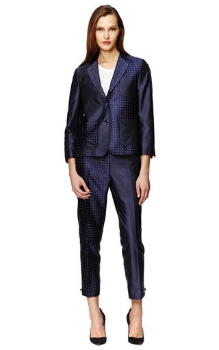 Silk Mixed Polka Dot Blazer by THOM BROWNE Now Available on Moda Operandi