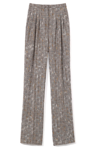 Medium carolina herrera multi houndstooth tweed pants