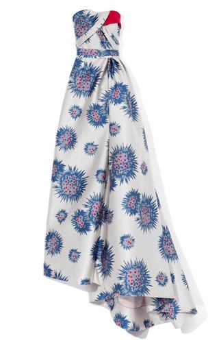 Medium carolina herrera multi flower urchan jacquard gown