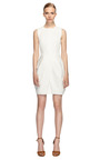 White Cotton Canvas Dress by VERA WANG Now Available on Moda Operandi