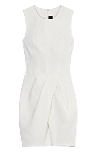 Medium vera wang off white white cotton canvas dress
