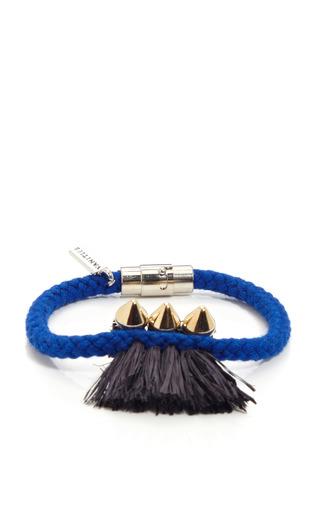 Triple Spike & Raffia Rope Bracelet by VANITIES Now Available on Moda Operandi